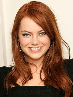 Emma Stone with red hair <3
