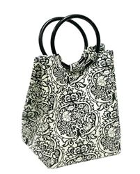 Retro Black & White Damask Lunch Bag   College Life/Wishlist