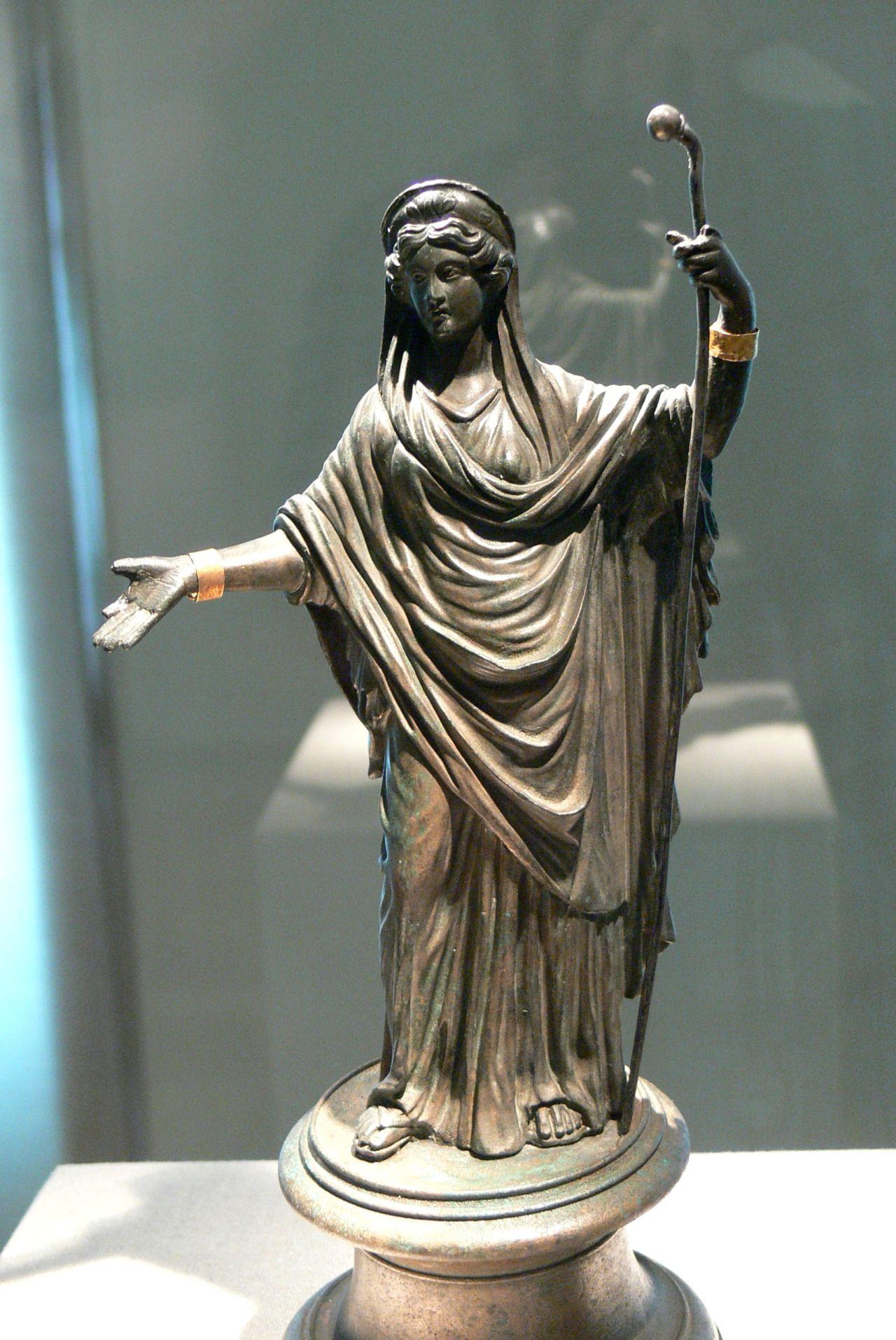 Bronze Statuette Of The Roman Goddess Juno Greek Hera
