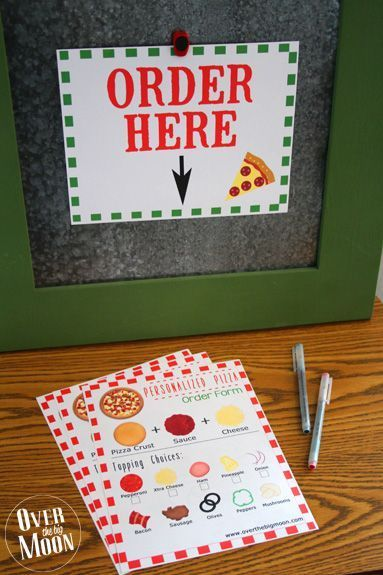 Photo of Film and Pizza Family Night Idea w / printable order forms from Over The Big Mo