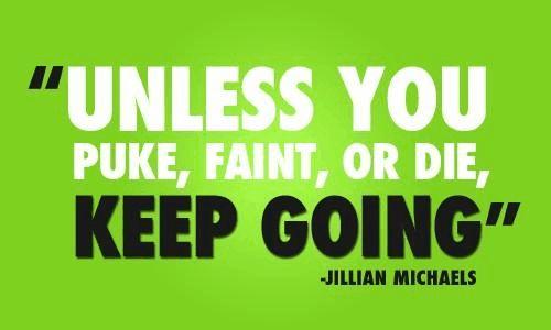 Love this Jillian Michaels quote!