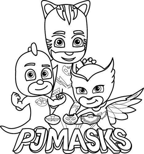 Dibujos E Imagenes De Pj Masks Para Imprimir Y Colorear Pj Mask