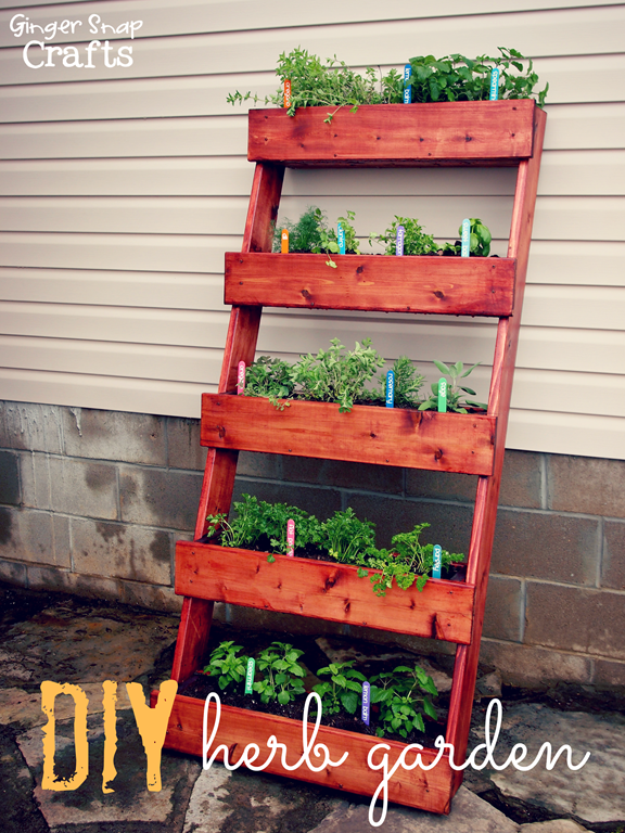 DIY Herb Garden tutorial digin ad is part of Vertical garden diy, Outdoor herb garden, Diy herb garden, Vertical herb garden, Pallets garden, Garden projects - gardenclub to see some of the many benefits of membership  This is a sponsored post written by me on behalf of The Home Depot  Thank you so much stopping by my blog! If this is your first time visiting I'd love to keep in touch  Don't miss a post! Subscribe by email or bloglovin'  This project & post were created for Ginger Snap Crafts by Ginger Bowie