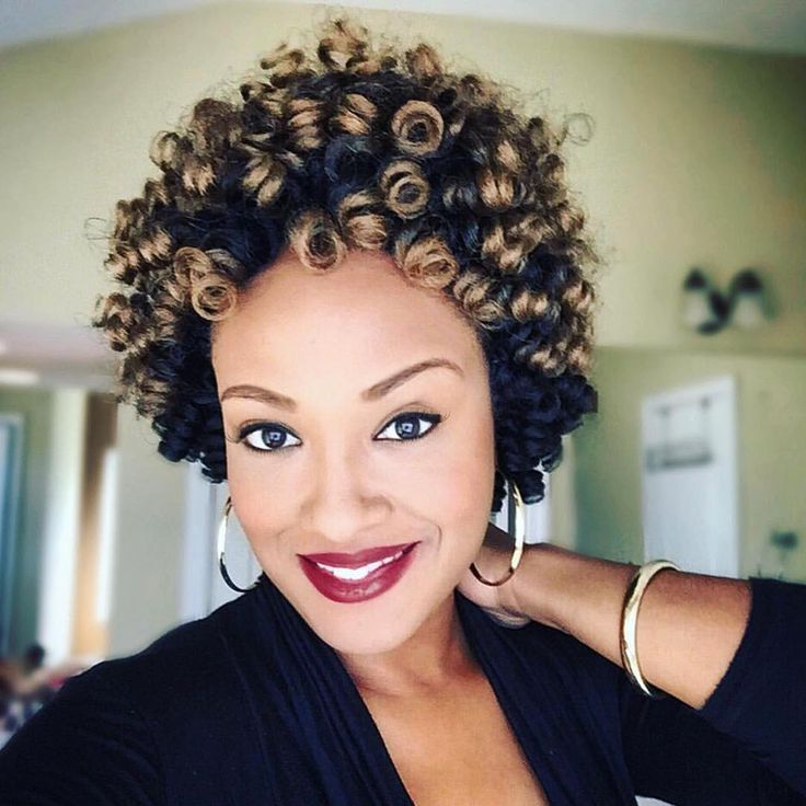short curly crochet hairstyles Image Results
