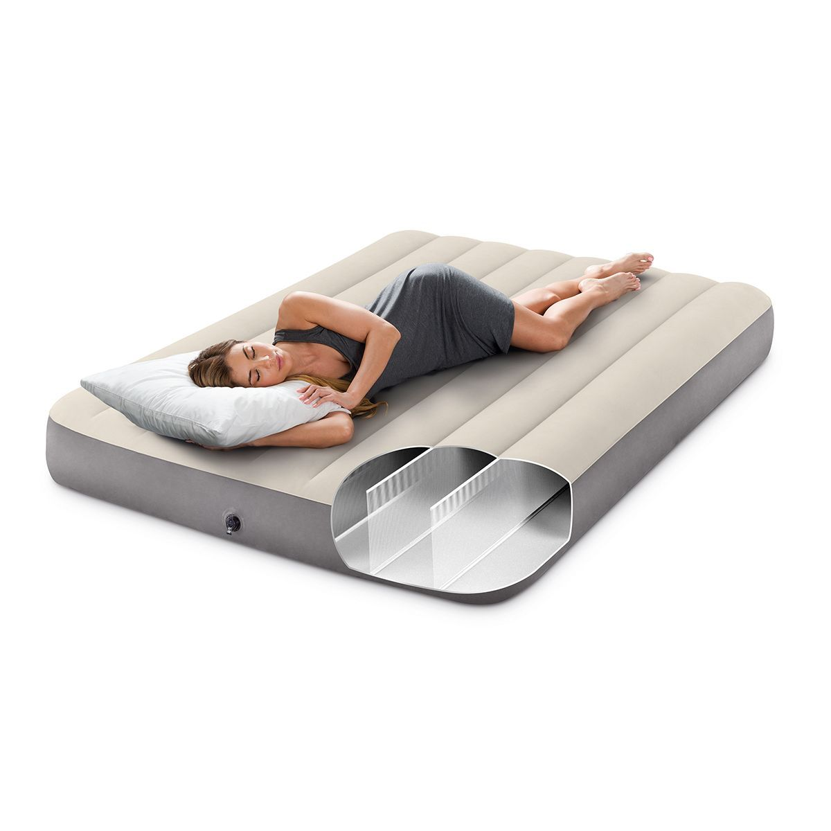 Matelas Gonflable Downy Fiber Tech 2 Places Intex Taille