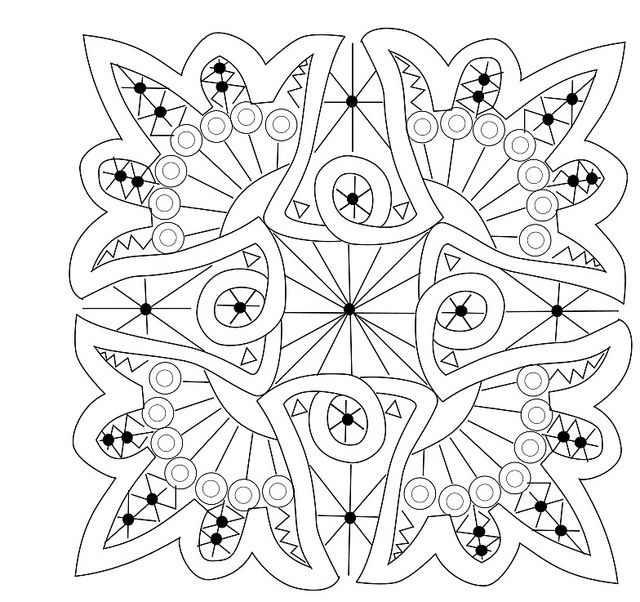 version 2 for RPLAL | Mandalas, Mandala para colorear y Colorear