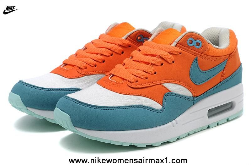 pretty nice 6b192 ccaab New Nike Air Max 87 Womens Shoes Orange White Navyblue