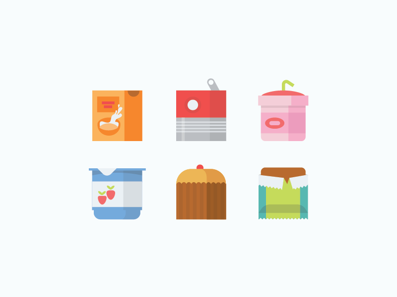square food icons by michelle vandy for omada health