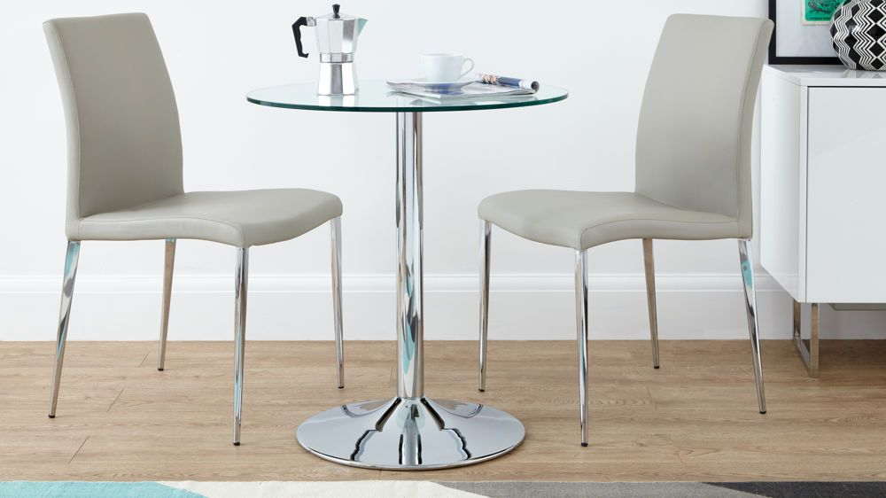 Elise Dining Chair Chrome Dining Table Small Glass Dining Table
