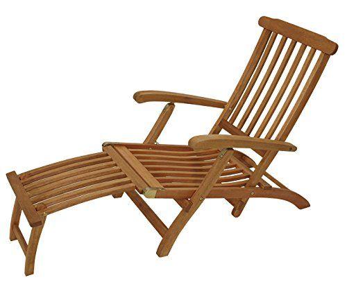 Deckchair Maine Mit Fussteil Aus Eukalyptus Hartholz, FSC® Zertifiziert  Gartenmoebel Einkauf