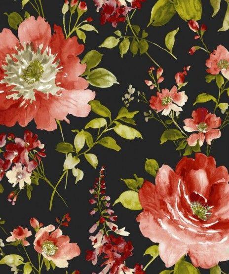 Tkanina Zaslonowa Obiciowa I Love You 1639503 Tkaniny Sklep Styl Studio Wnetrz Flower Art Flowers Vintage Textiles