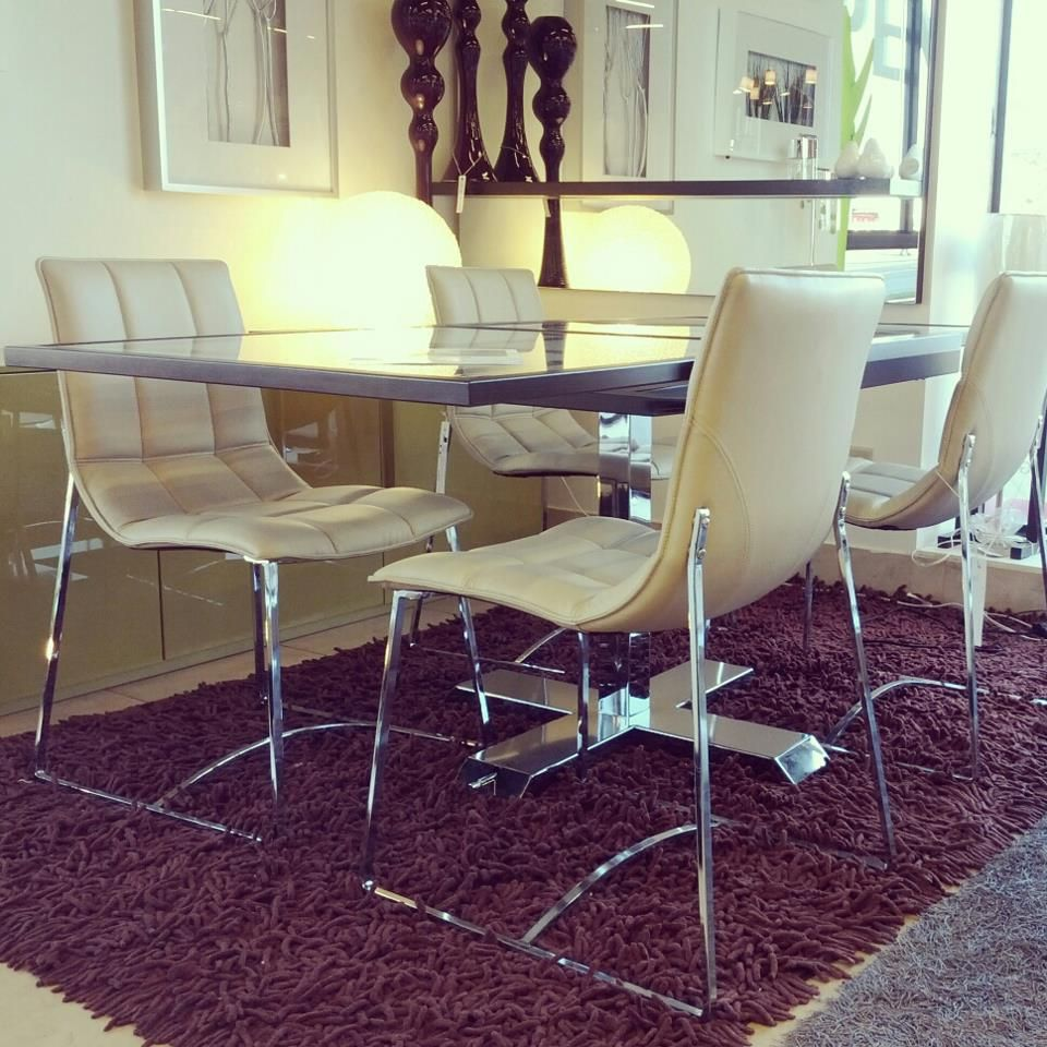 Modern Retro Style Dining Chairs With A Contemporary Table
