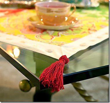 Borla usada na ponta de uma toalha