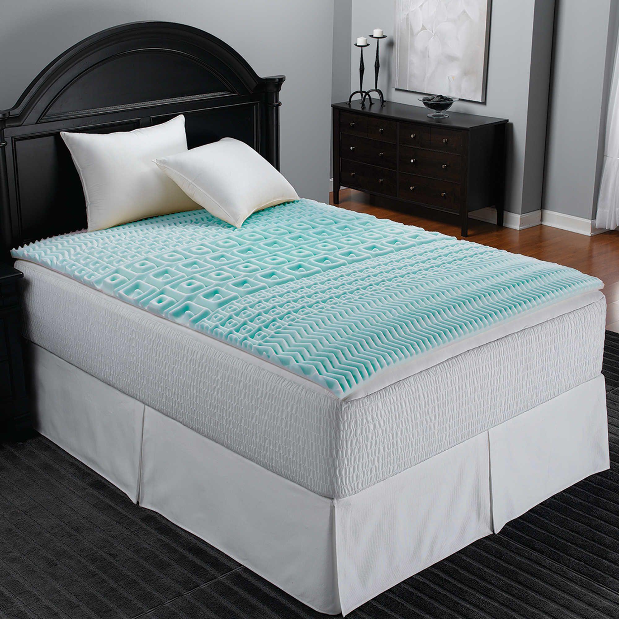 Sleep Zone 5Zone Foam Mattress Topper in Blue in 2019