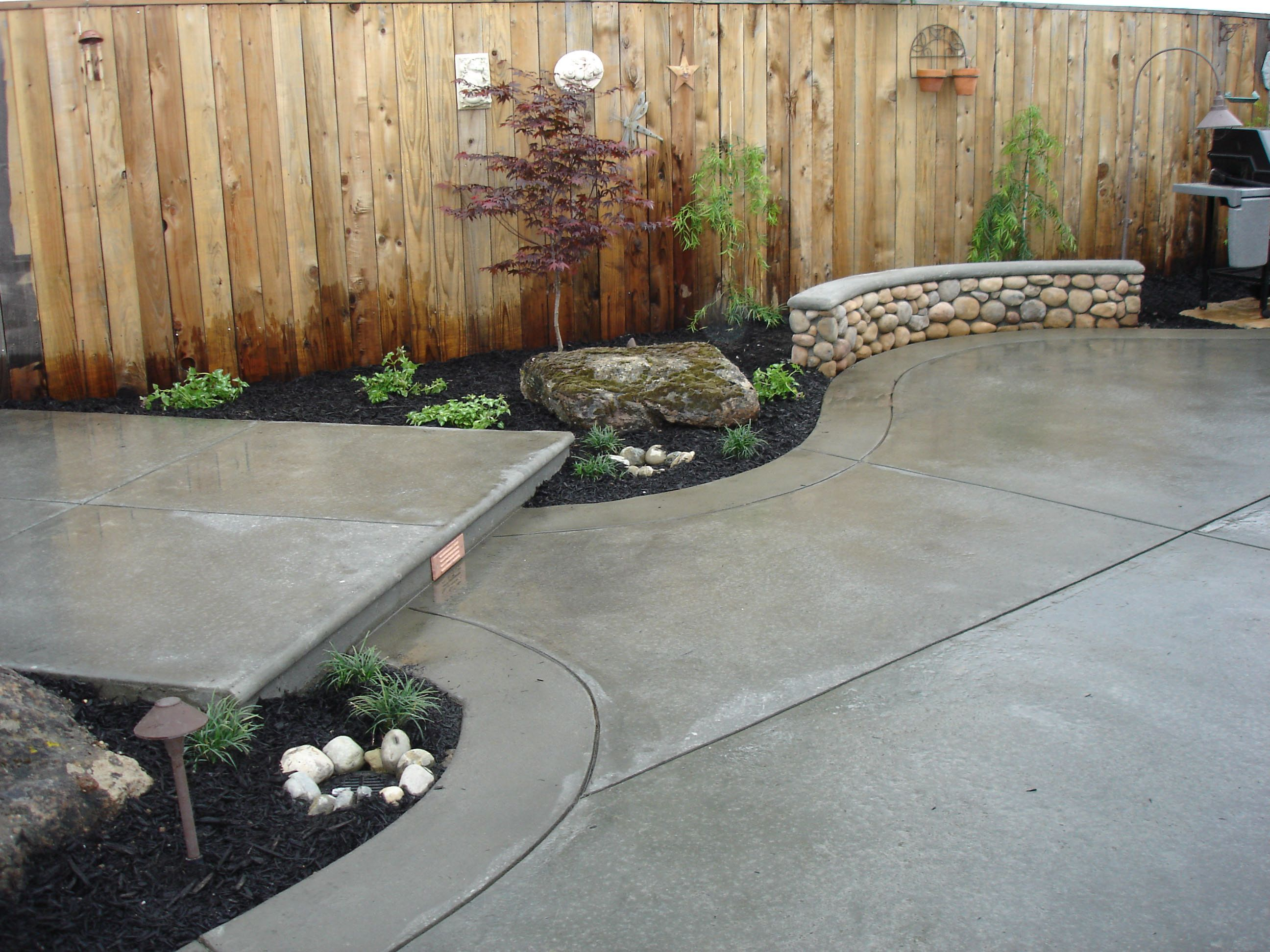 Concrete Finishes For Patios And Walkways Broom Finish Concrete - Backyard concrete ideas