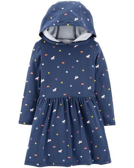 72f62e7e6b513 Hooded Unicorn Dress | Products | Unicorn dress, Hooded dress ...