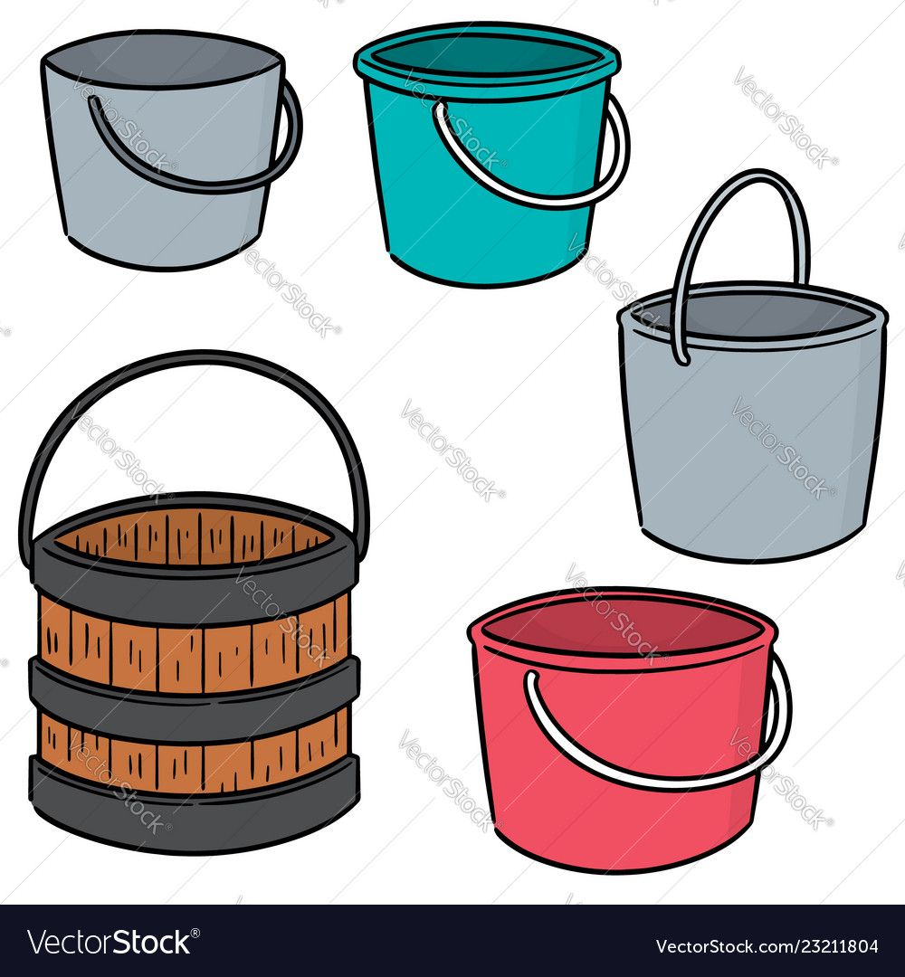 vector set of bucket. Download a Free Preview or High