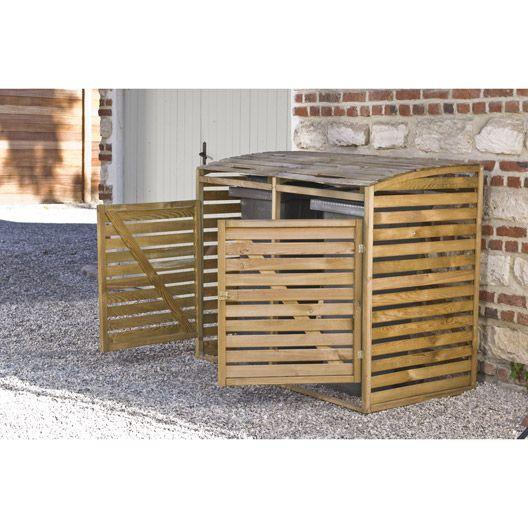 Cache-poubelle simple en bois Double, 005 m3 outdoor Pinterest - Leroy Merlin Cuisine Exterieure