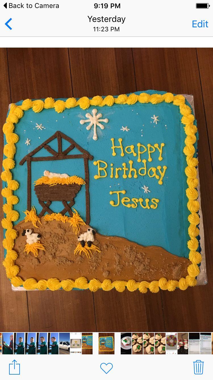 Happy birthday Jesus cake for preschool Christmas party