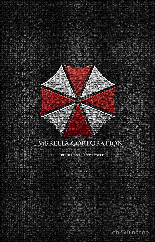 Umbrella Corporation Logo Iphone Cover By Ben Swinscoe Resident Evil Movie Umbrella Corporation Resident Evil Game