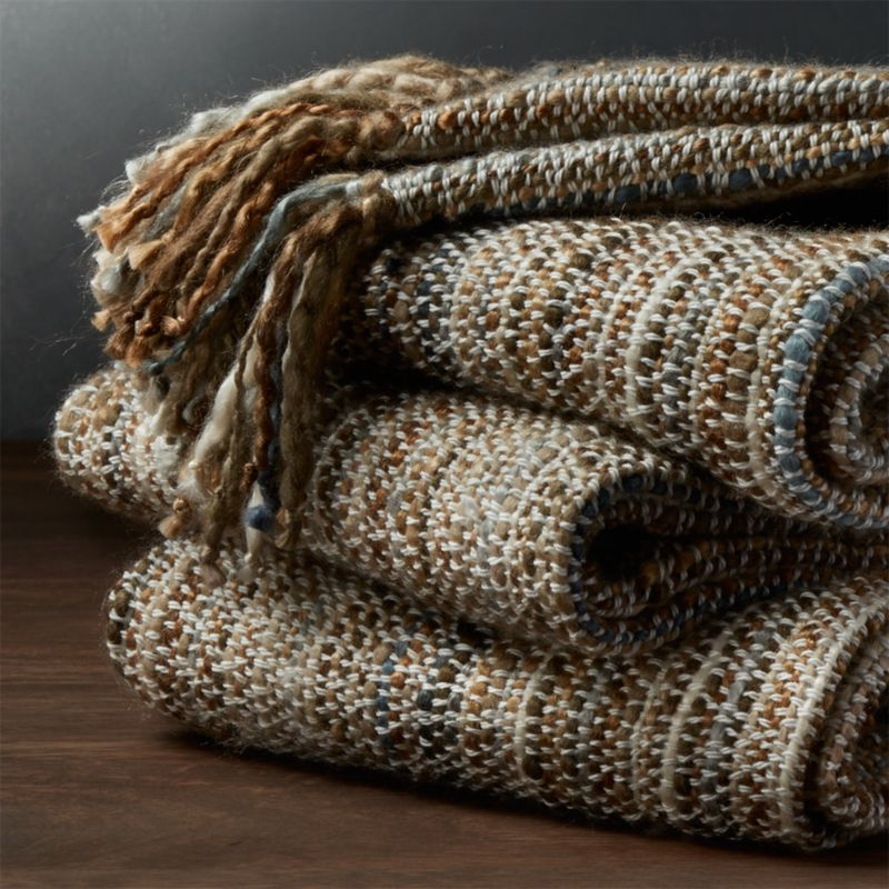 Shelby Natural Throw Brown throws, Crate, barrel, Crates