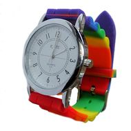 Gay Pride Wrist Watch with Rainbow Flag Band - LGBT Gay and Lesbian Pride Accessories Price: $23.79 http://www.shareasale.com/m-pr.cfm?merchantID=36679&userID=856296&productID=547538760