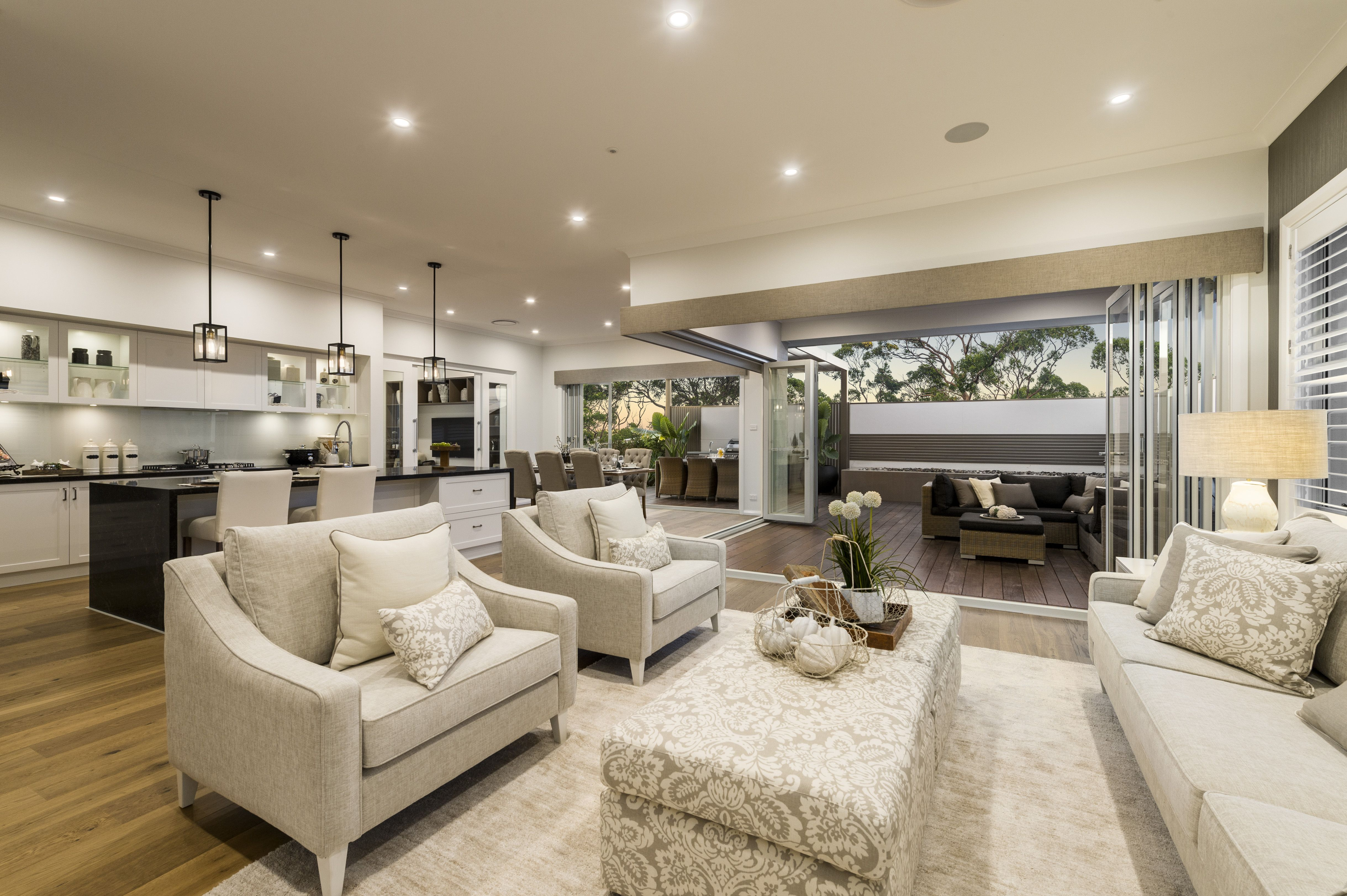 fabulous modern orange living room | Love this fabulous family room in the San Marino display ...
