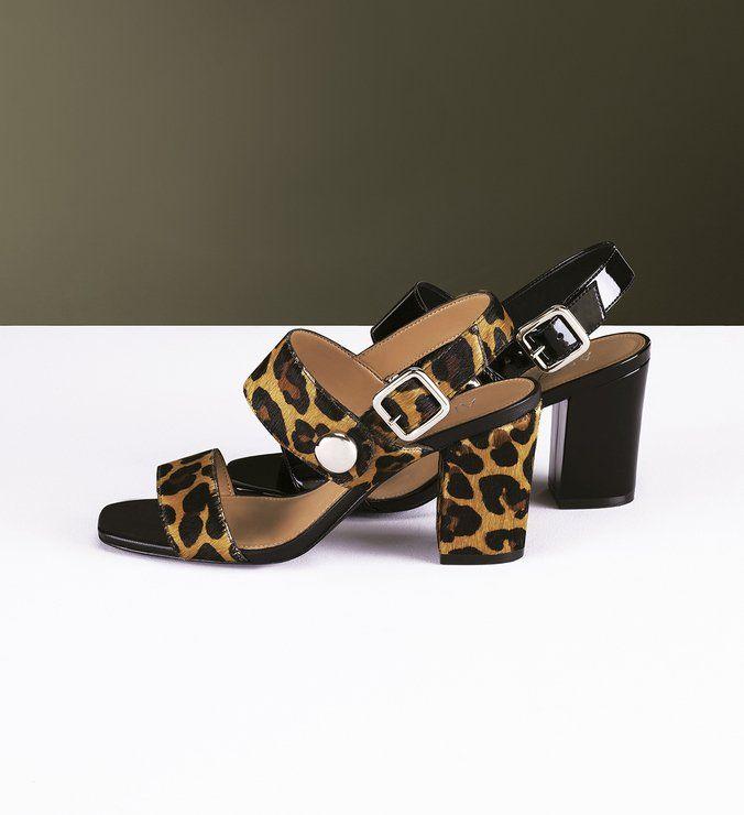 7fa2e7dfc Sandália Pele Feline Bloco Médio Natural e Preto | Shoes | Pinterest ...