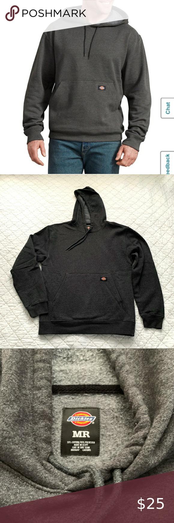 Dickies Gray Fleece Hoodie Sweatshirt Pullover Pullover Sweatshirts Sweatshirts Hoodie Fleece Hoodie [ 1740 x 580 Pixel ]