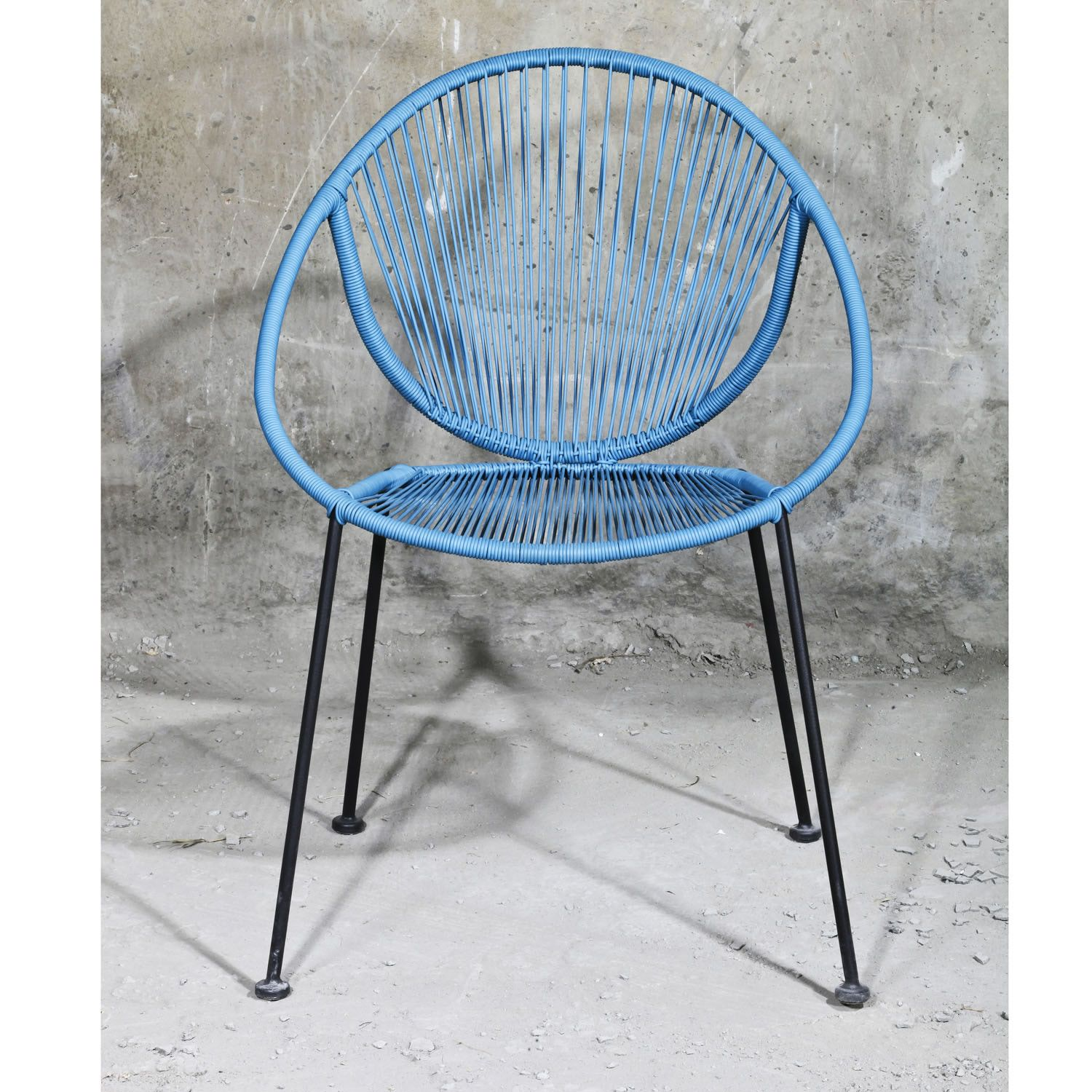 Outfit Garden Metal And PVC String Chair In Blue U2013 The UKu0027s No. 1 Garden