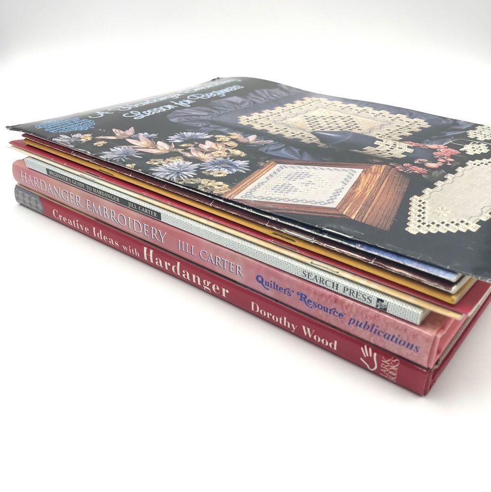 9 Hardanger Embroidery Books Jill Carter Dmc Dorothy Wood Crafting