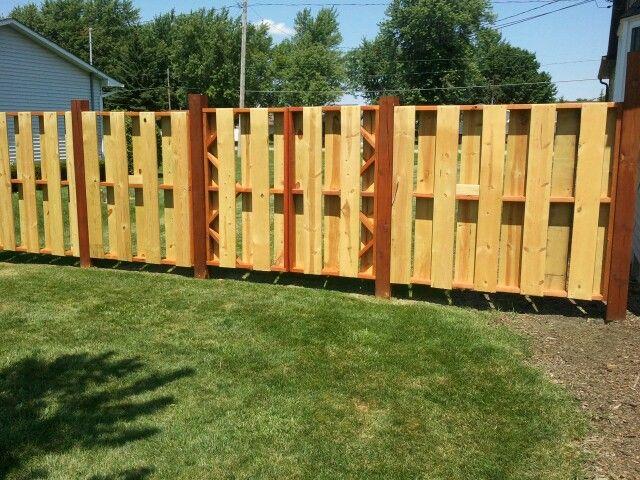 Equipment Gate Fenceguides Shadowbox Fencing