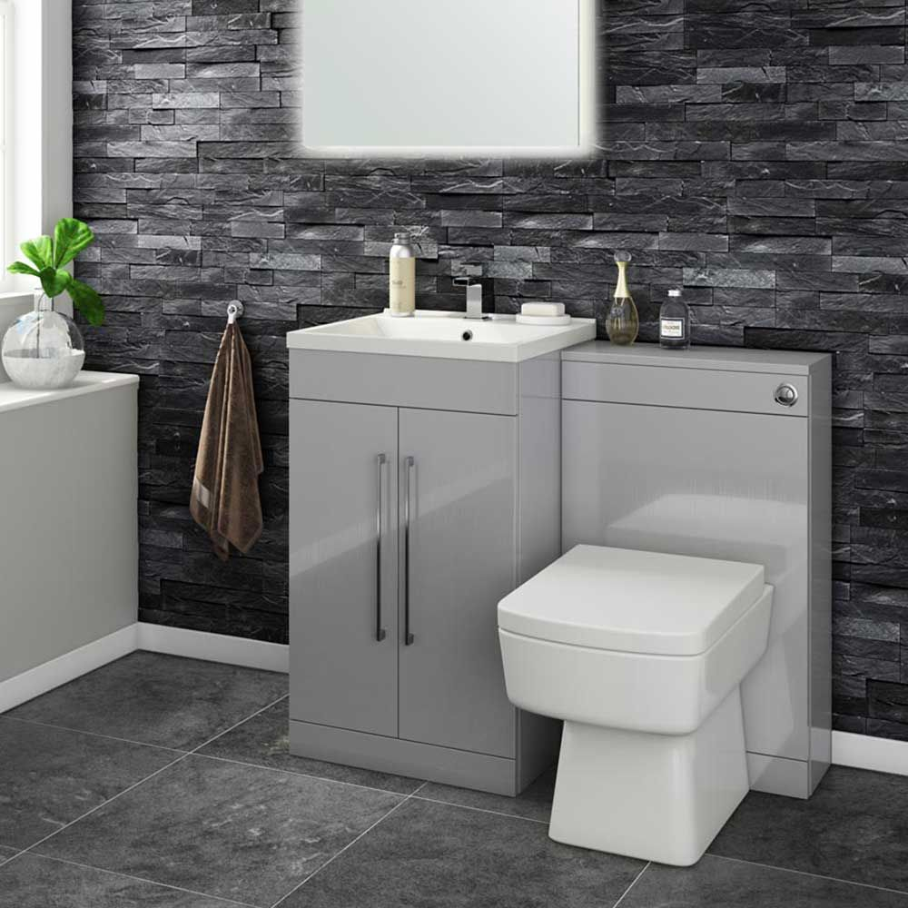 Bathroom Toilet And Sink Vanity Units aspire 500mm 2 door