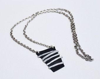 Statement necklace Leather necklace Long por danielapalatnik
