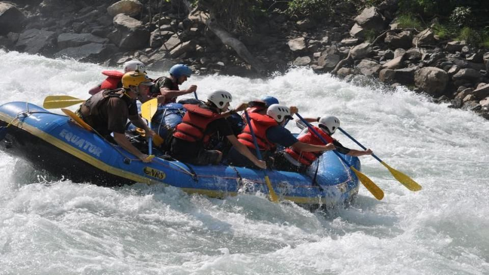 """Marshyangdi River Rafting, """"Raging River"""" in the local dialect aptly describes one of the best white water runs in the world. Only recently opened for commercial rafting (many rapids have not been named yet). The Marshyangdi is one of the best white water rafting and kayaking in the world. I"""