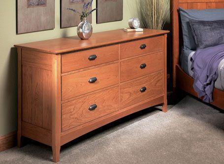 Six Drawer Dresser Woodsmith Plans Furniture Plans Dresser