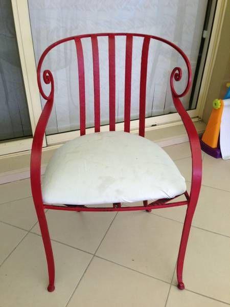 Red Iron Chairs Wrought Iron Chairs Iron Chair Furniture