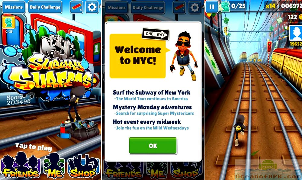 Скачать subway surf new york на компьютер
