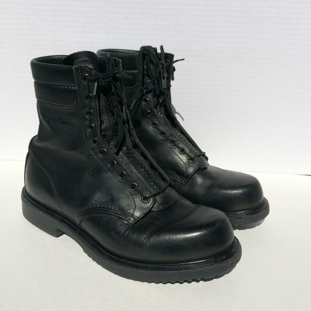 Red Wing Boots Black Mens Size 9 E2 Model 8107 Fire Boot