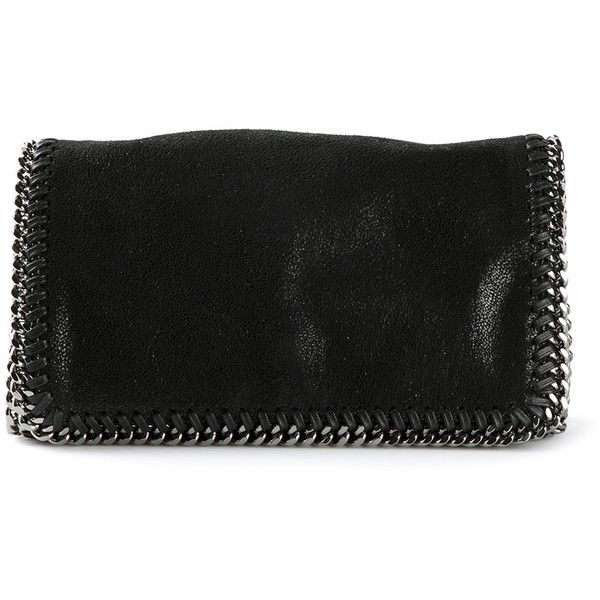 Stella McCartney small 'Falabella' crossbody (£630) ❤ liked on Polyvore featuring bags, handbags, shoulder bags, clutches, black, black crossbody, black crossbody purse, leather cross body purse, crossbody shoulder bags e black leather crossbody