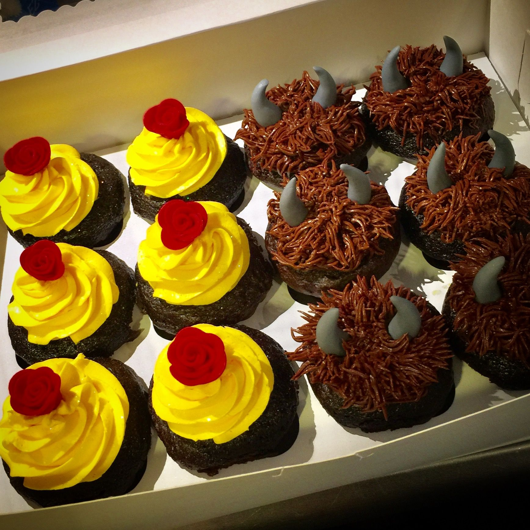Beauty and the Beast cupcakes Beauty and the beast