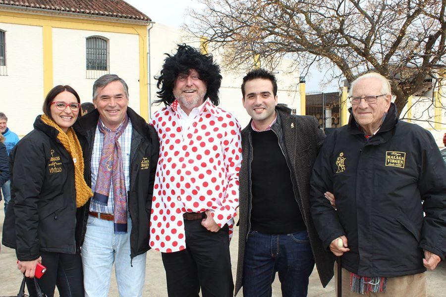 Nuestro amigo Didier Bricout, gerente de Bodegas Málaga Virgen, vestido de Pimpi para nuestras convivencias ;)