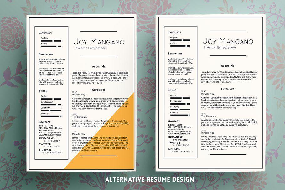Joy Resume Template Resume Template Resume Template Free Resume
