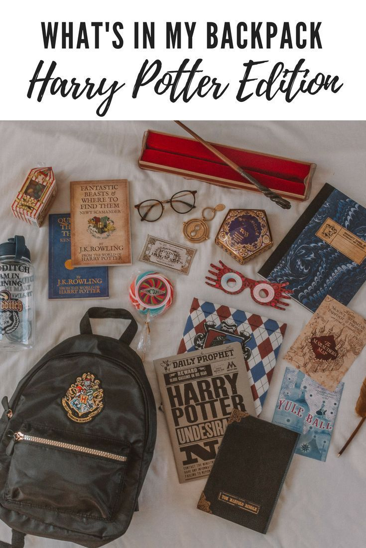 What's in my Backpack: Hogwarts School and Harry Potter edition featuring items from Noble Collection, Primark, Warner Bros and more. If you're looking for some great Harry Potter gift ideas, look no further!  #whatshotblog #harrypotter #hogwarts #books
