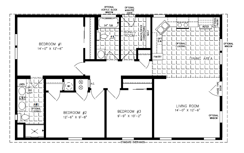 manufactured home floor plan: the imperial • model imp-34410b 3