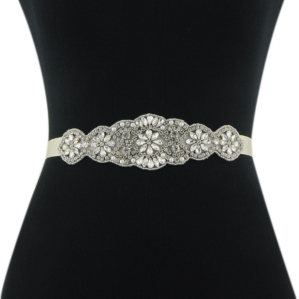 Azaleas Womens Crystal Bridal Belt Sashes Wedding Belts Sash for Wedding