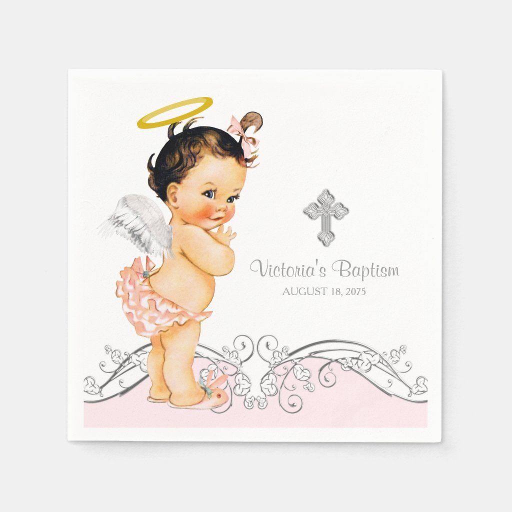 Instant Download Printable pastel colour Digital Stamps Christmas  Baptism  Christening Set of 6 Little Angels