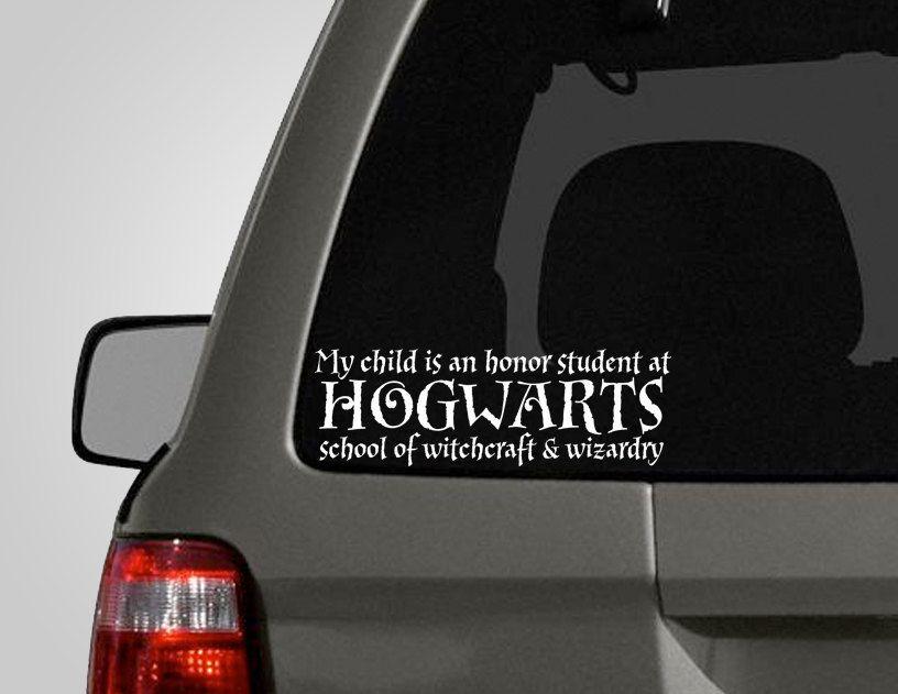 Hogwarts honor roll bumper sticker