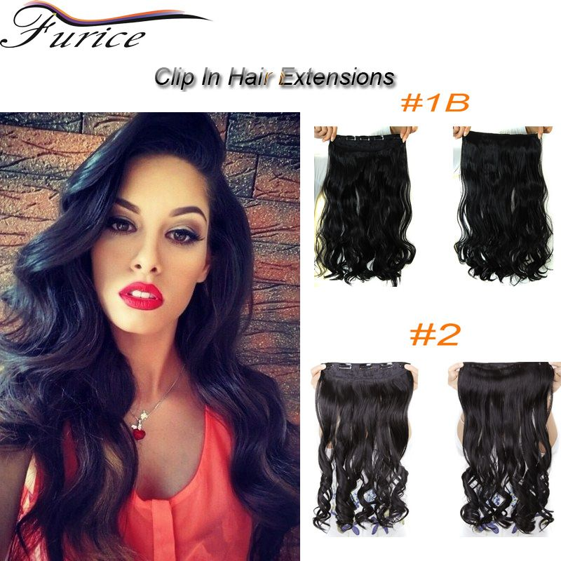 Aliexpress Buy 65cm Clip In Synthetic Hair Extensions Long