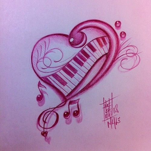 Colorful Music Notes And Hearts Hectorm4l Musicnote Musical
